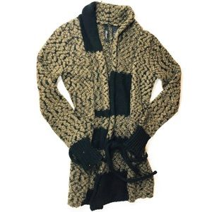 BKE Boutique Animal Print Cardigan Sweater | SZ M